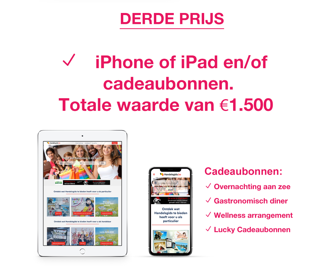 Derde prijs iPad of iPhone