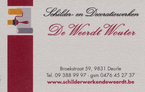Schilder- en Decoratiewerken De Weerdt Wouter - Logo