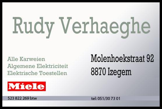 RUDY VERHAEGHE - Electriciteitswerke , automatisatie rolluiken , wasmachines , vaatwasser