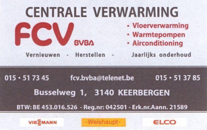 FCV bvba - naamkaartje
