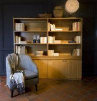 open boekenkast in eik, verkrijgbaar op maat  en in andere  kleuren
