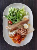 Kleine salade met gerookte vis �15-