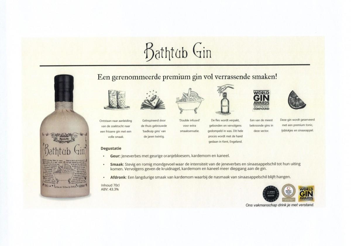 Nieuw Bathub gin