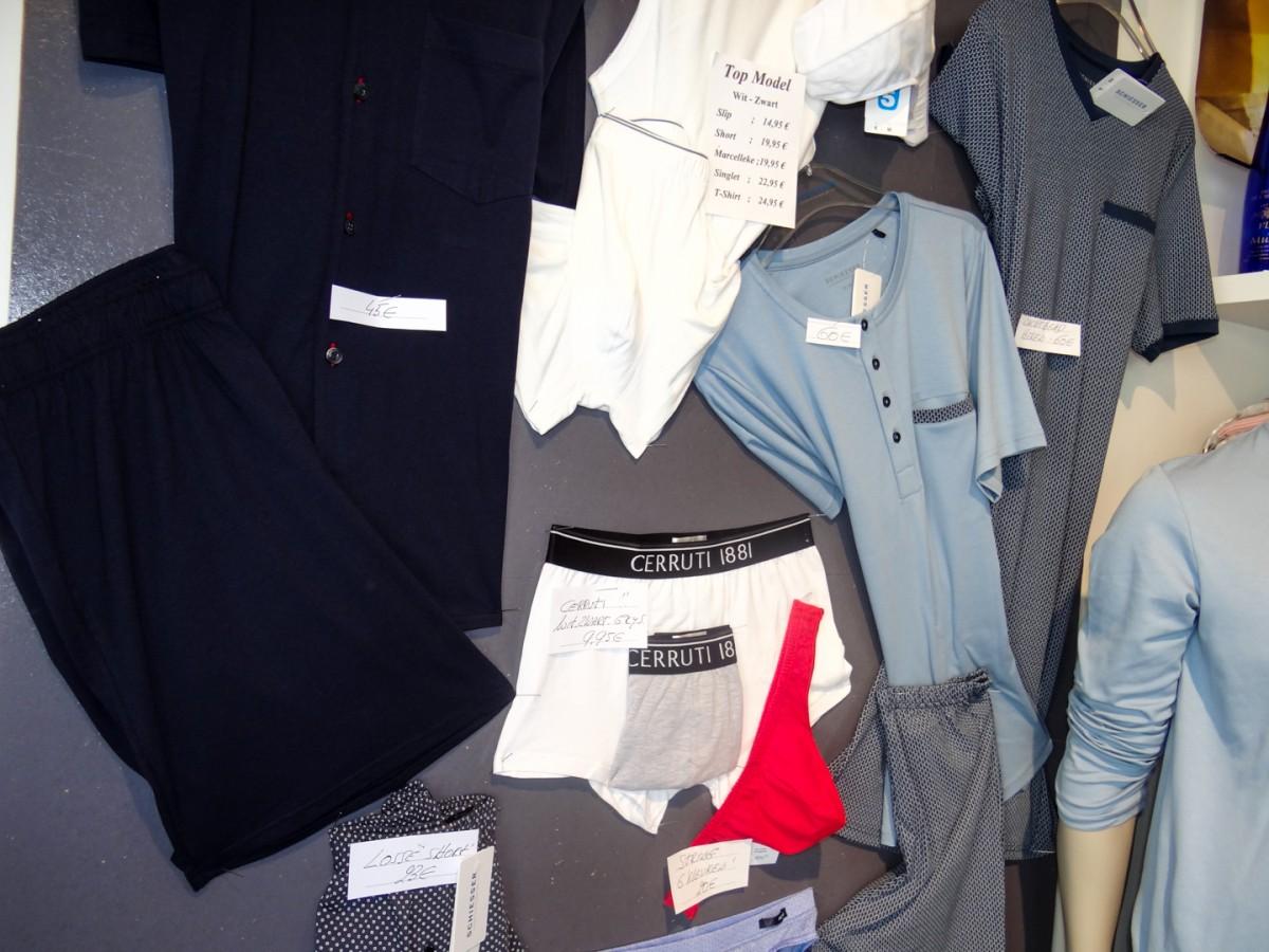T-shirs, ondergoed, marcelleks