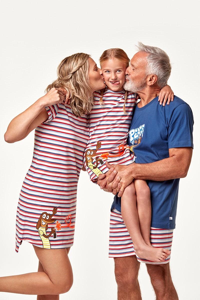 Nachtkleding voor gans het gezin