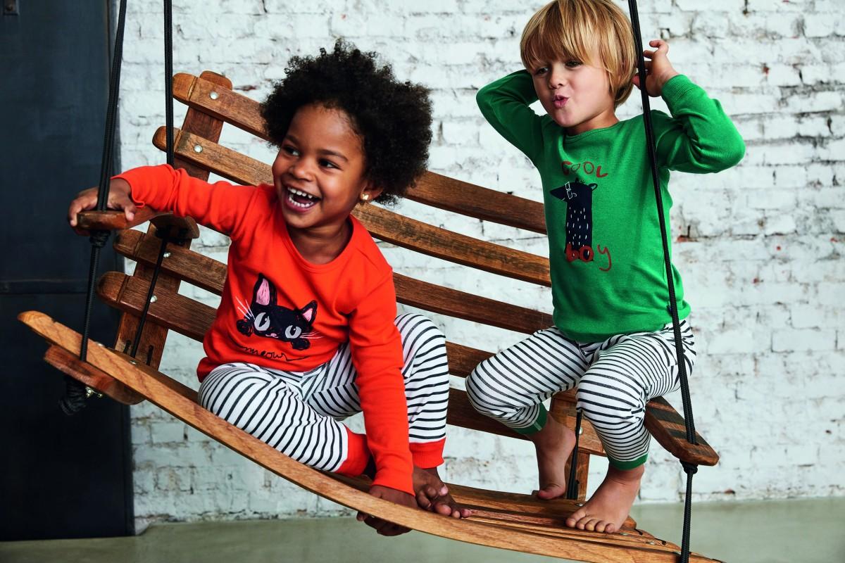 Schiesser - Pyjama meisjes - orange