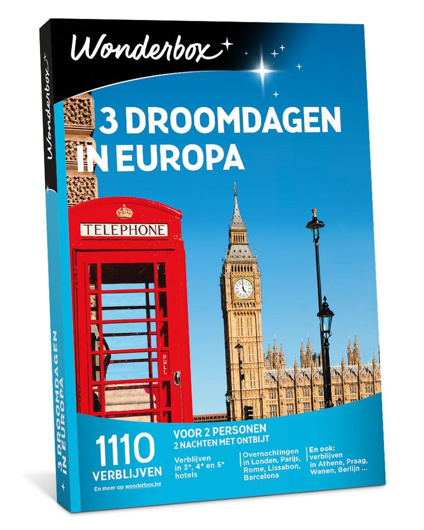 Cadeautip:  3 droomdagen in Europa