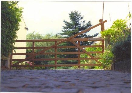 Engelse houten poort Yeoman