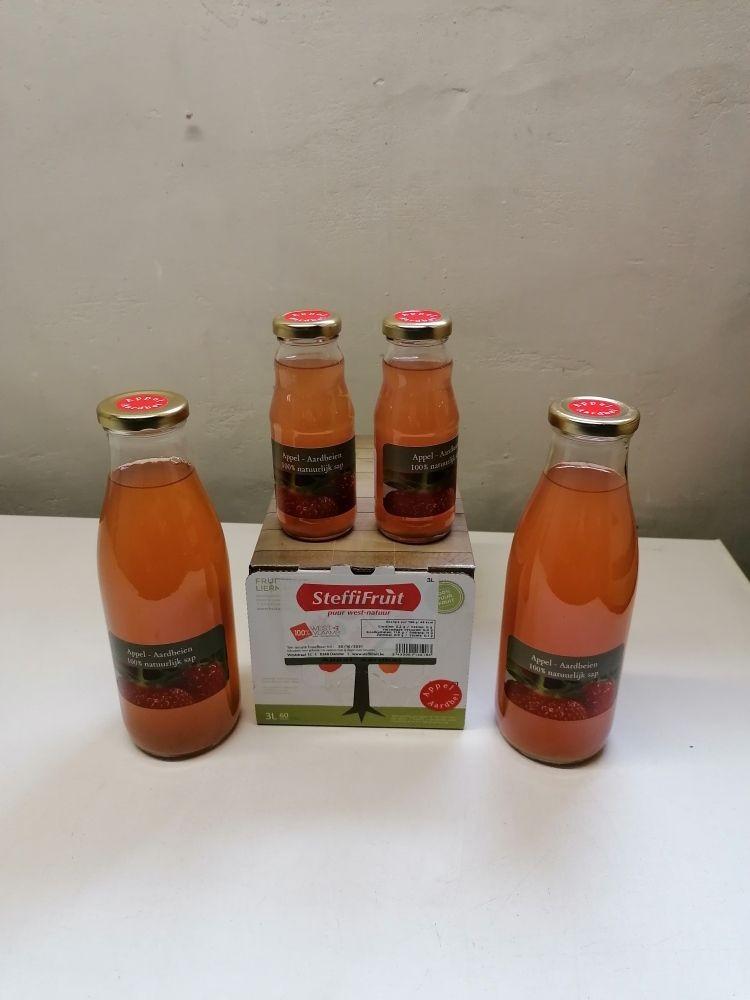 Appel-aardbeien sap
