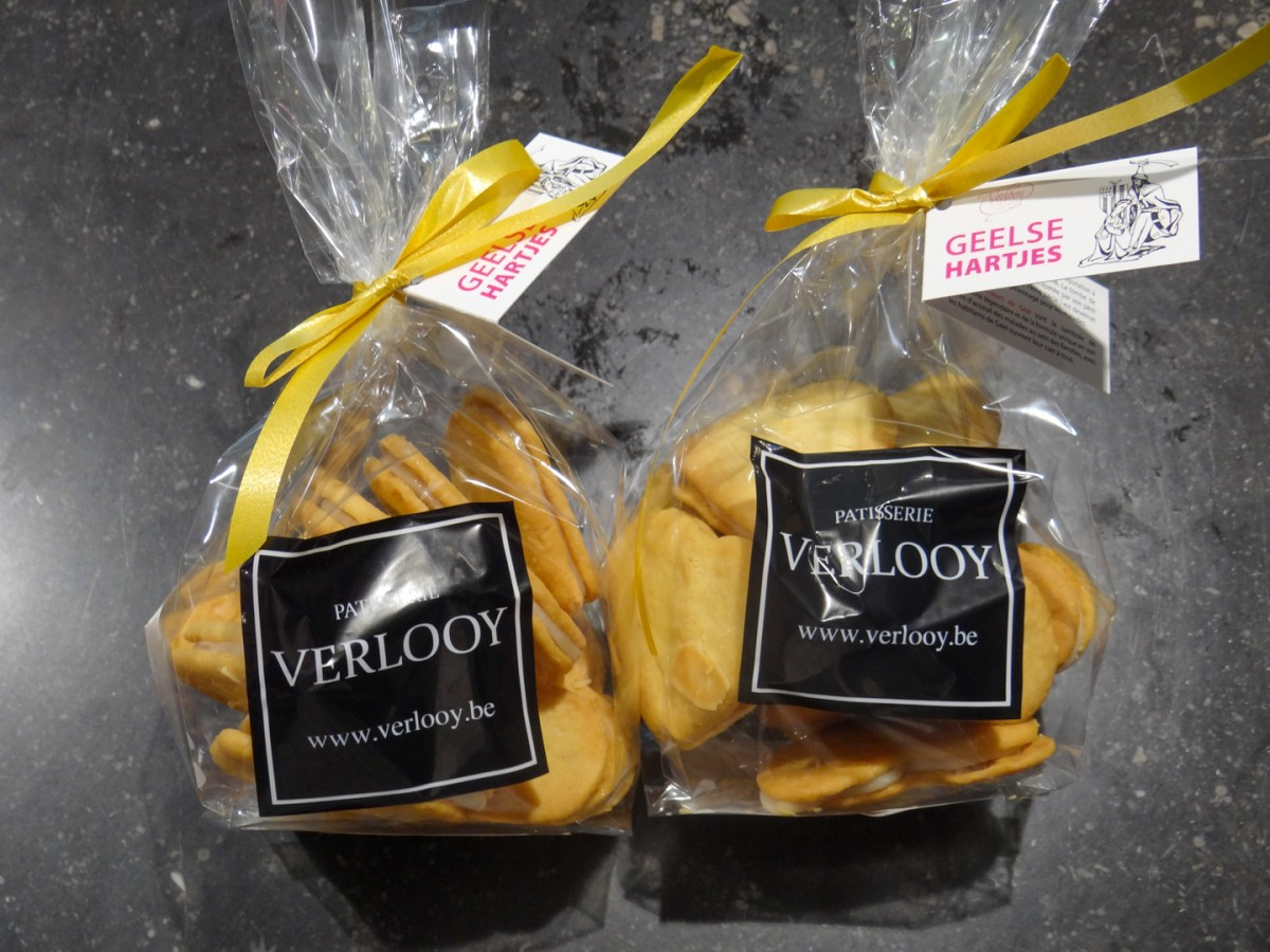 Dessertkoekjes Geelse hartjes