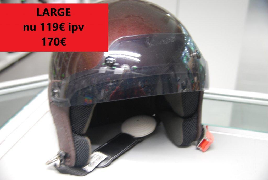 large vespa helm bruin