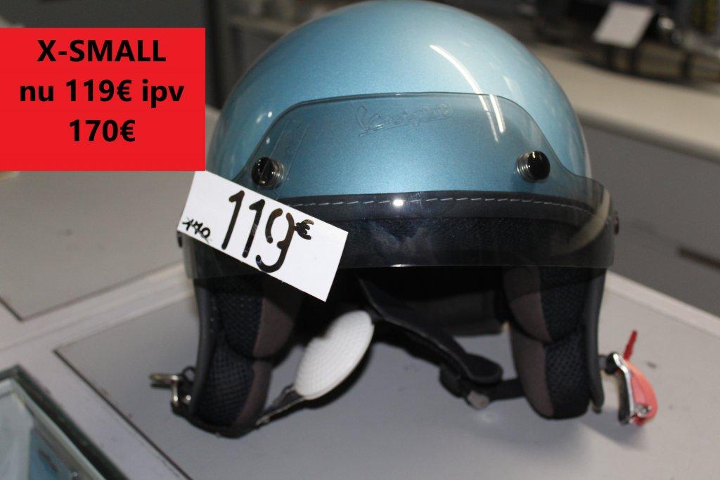 x-small vespa helm blauw