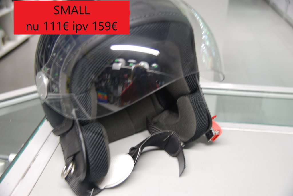 small vespa helm blauw