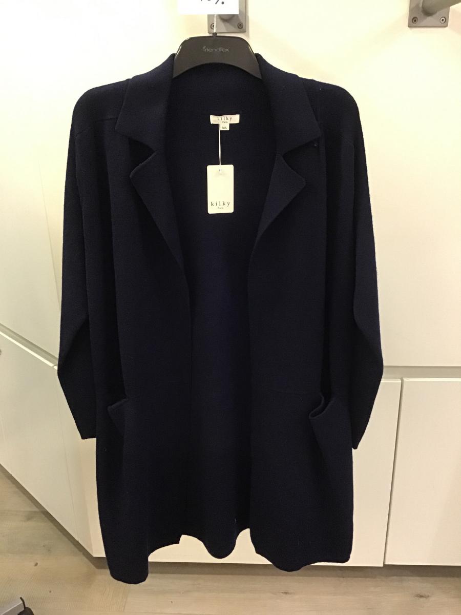 Donkerblauwe gilet / mantel