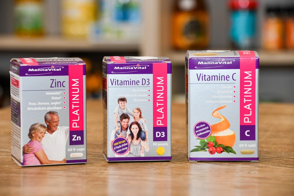Vitamine C en D en ZinC