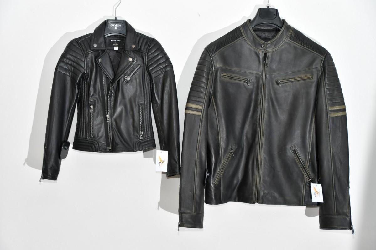 Sportves / Biker in zwart leder