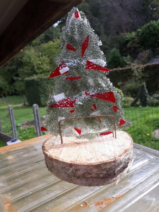 Glazen kerstboom