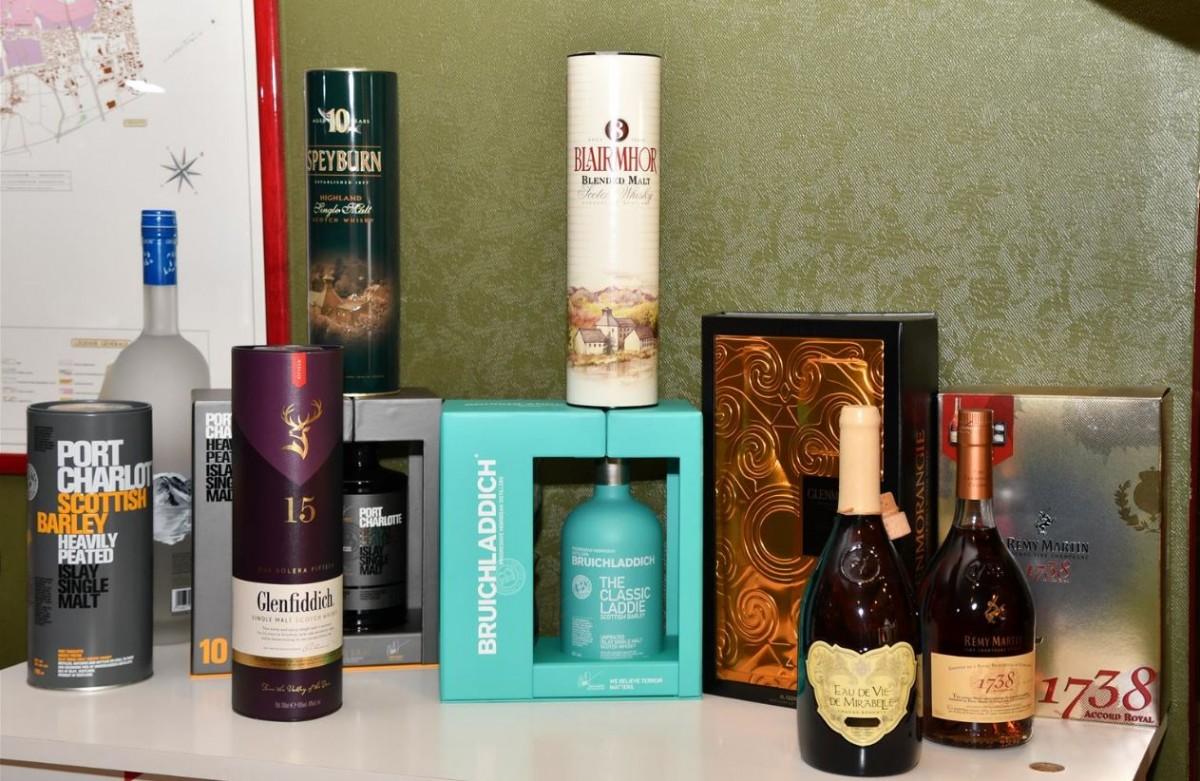 Whisky en Cognac