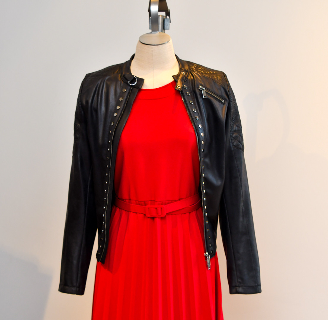 Rood met zwart