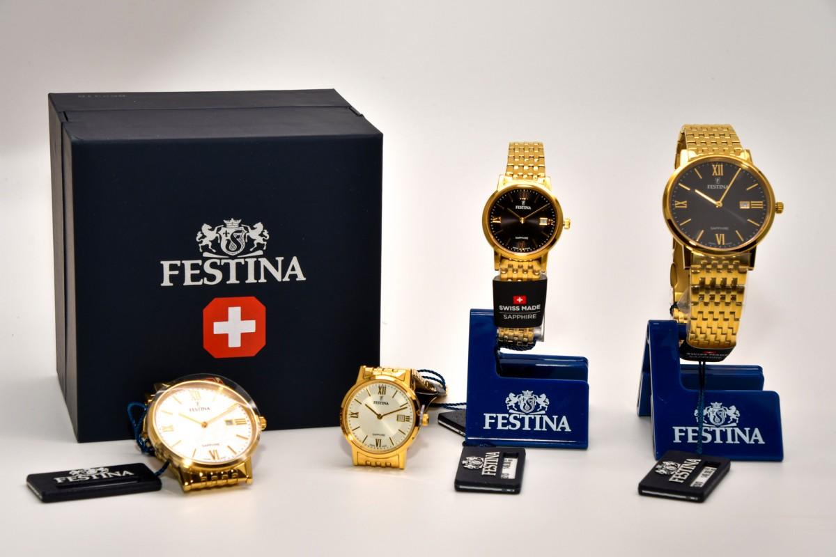 Gouden damesuurwerken Festina