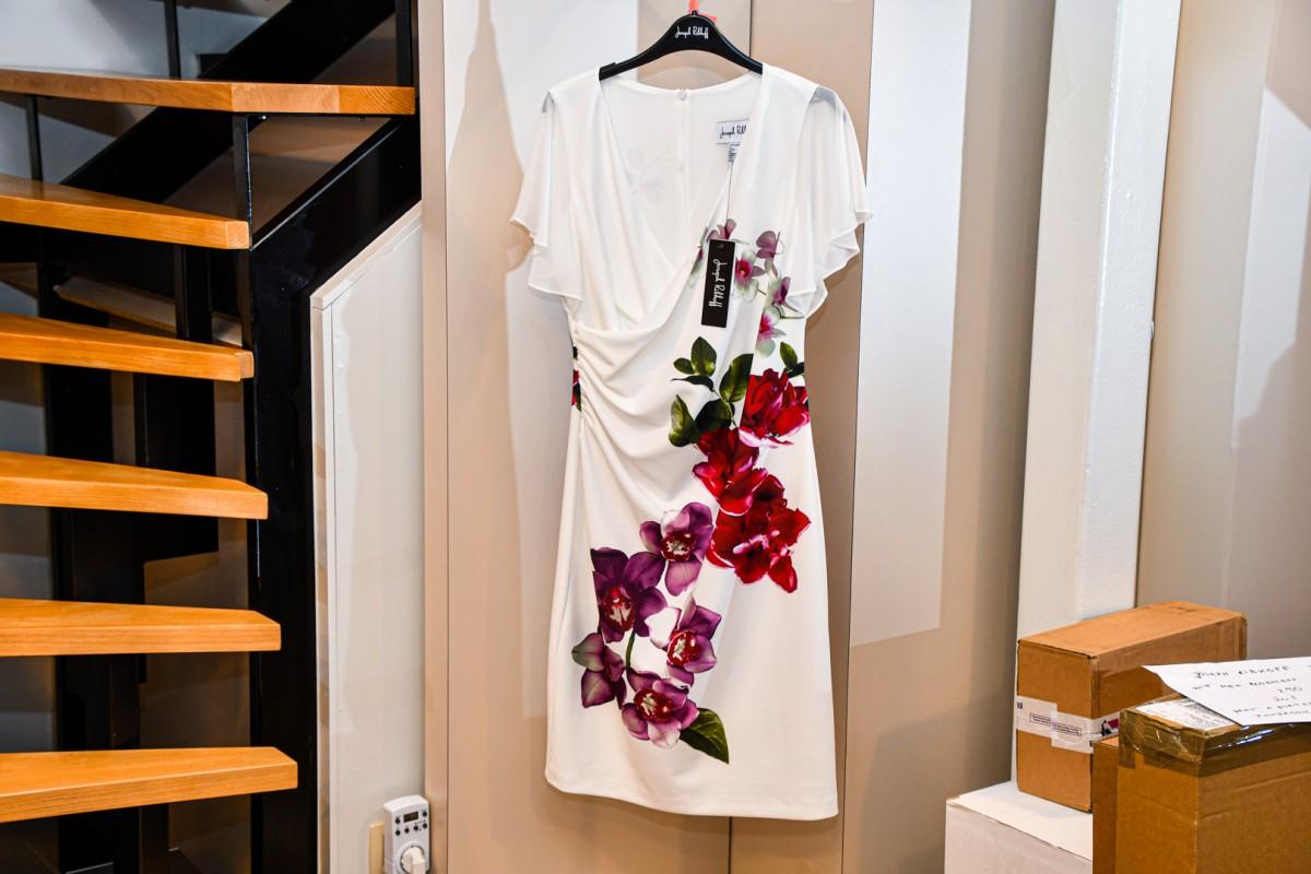 Joseph Ribkof jurk wit met bloemen