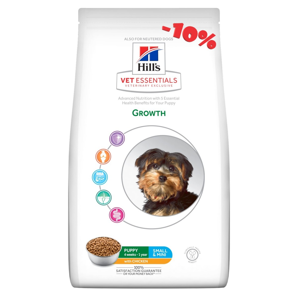 Hills Growth small & mini 2kg (kip)