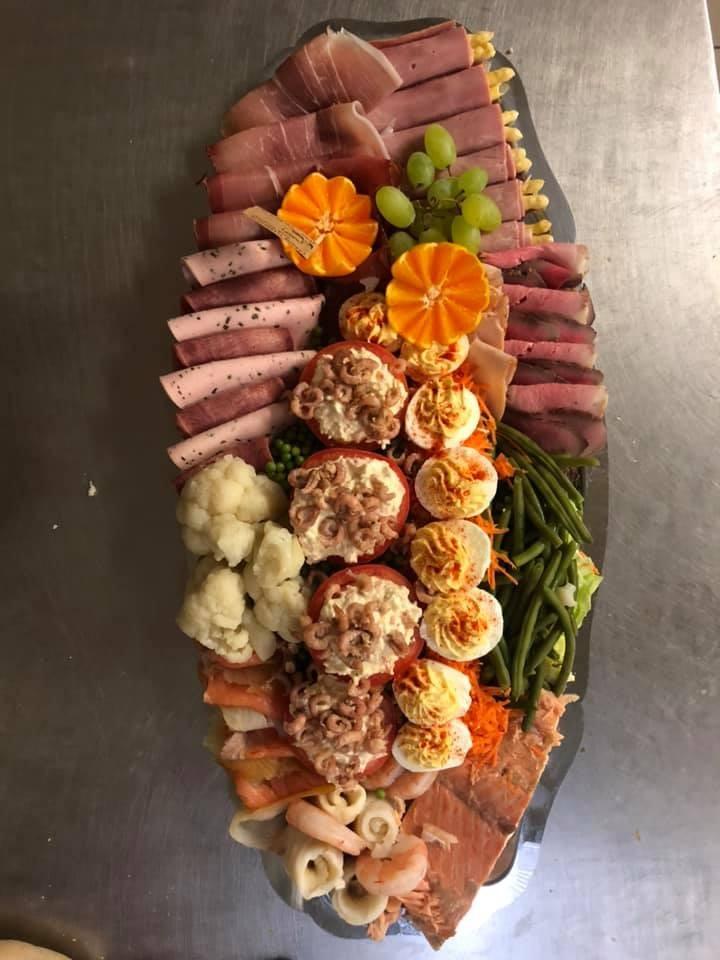 Vlees- en vis (extra) schotel