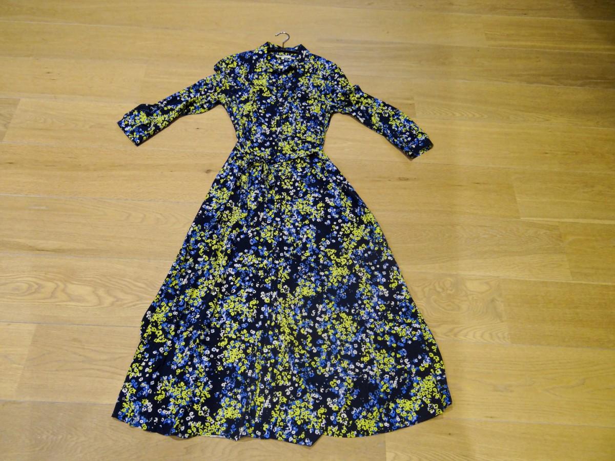 Fleurige lange modejurken