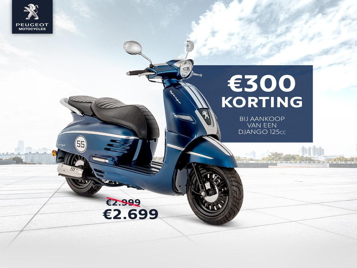 Vromoto -Actie Peugeot Django 125cc