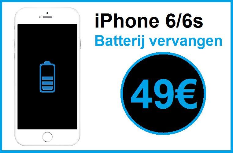 iPhone batterij accu vervangen