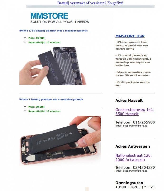 iPhone batterij snel plat?
