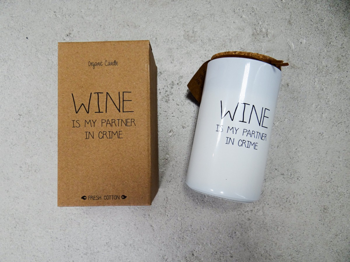 Koelhouder wijn Organic Candle