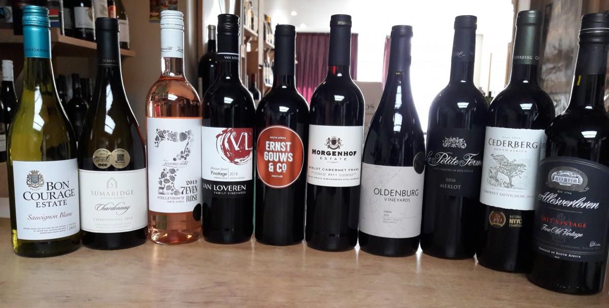 Groot aanbod wijnen uit Zuid-Afrika