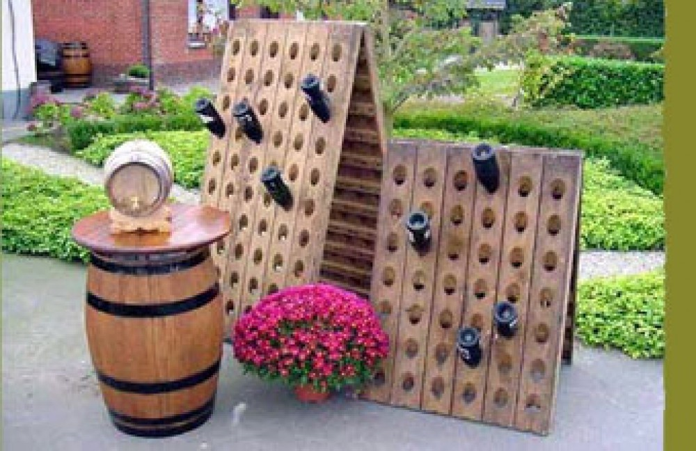 Wijn Tuindecoratie in hout