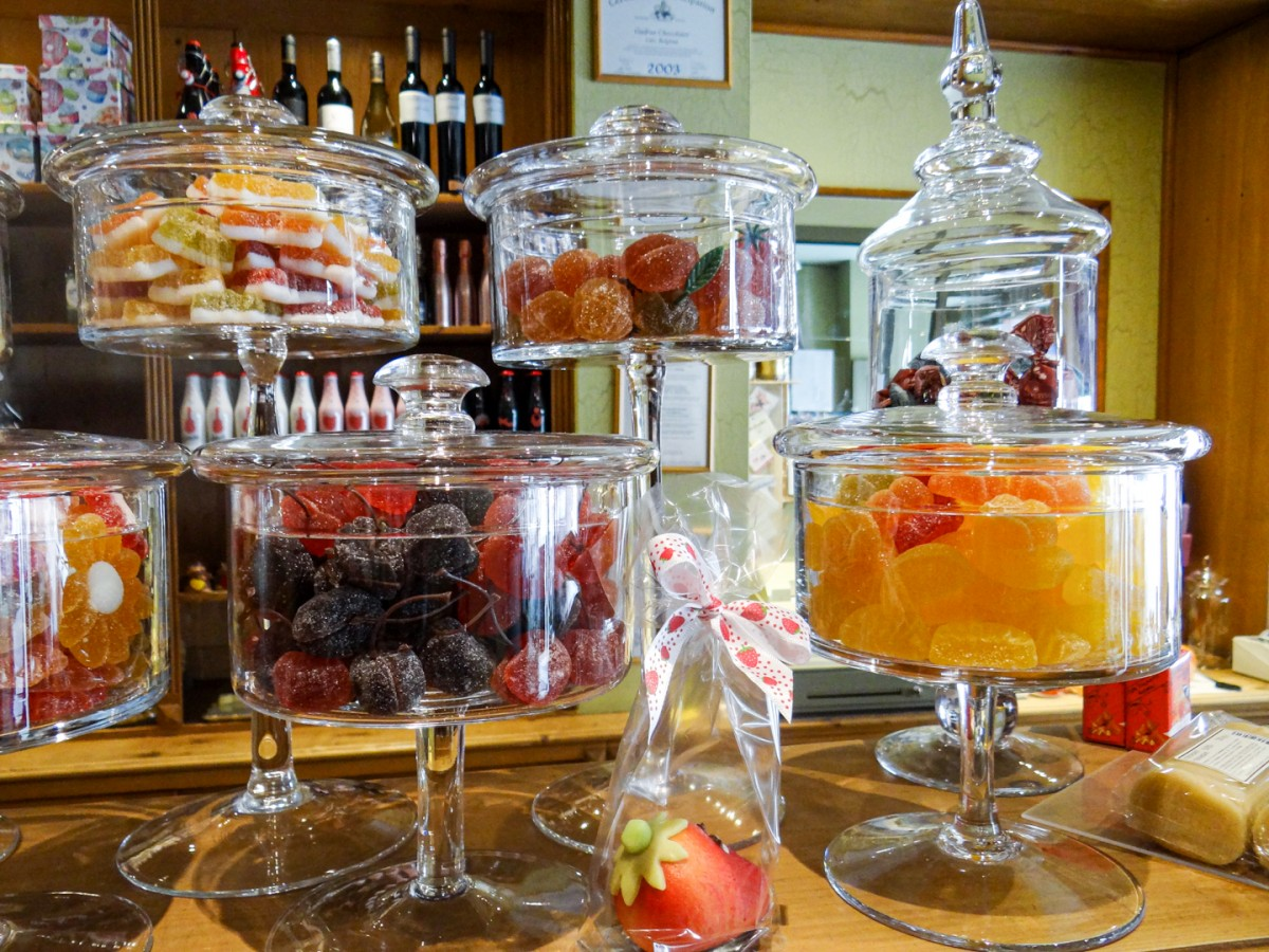Seizoensfruit snoepjes