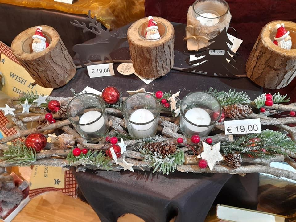 Tafeldecoratie met kaarsen