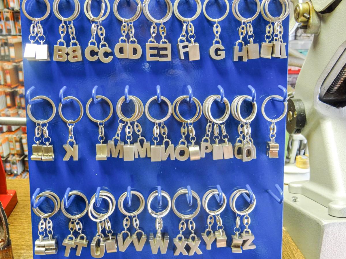 Sleutelhangers met letters