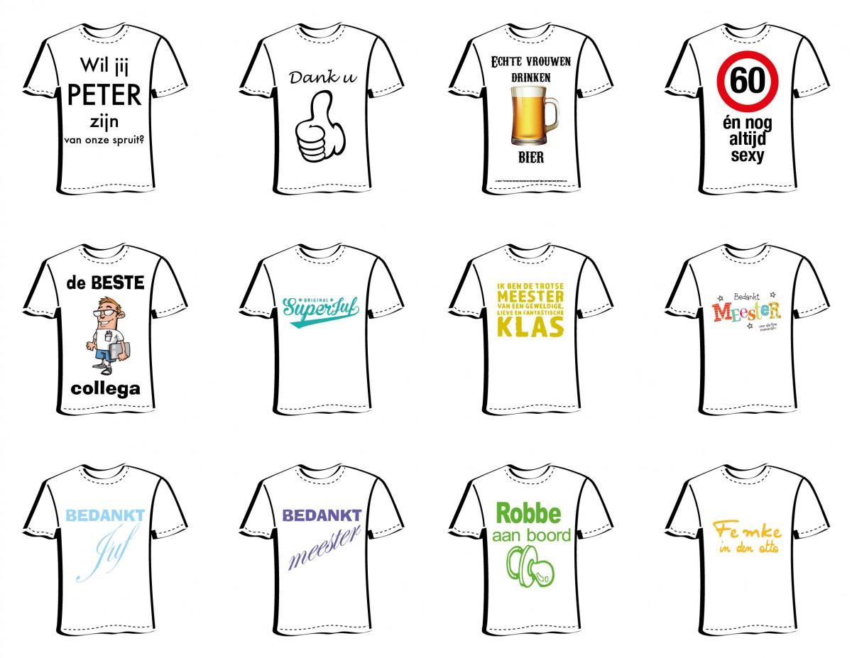 Mini T-shirt met bedrukking