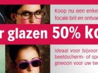 tweede paar glazen aan -50%