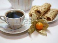 Pannenkoeken met koffie