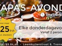 Donderdag Tapas avond 25€