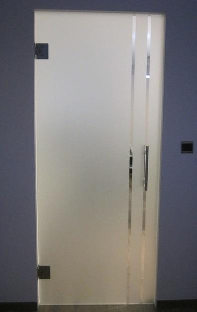 Ref. Oostende     Glazen deur met tekening 7061 B