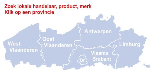 Kaart Belgie