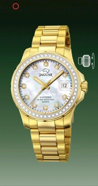 JAGUAR SWISS MADE Dames uurwerk / krasvrij saffier glas €490