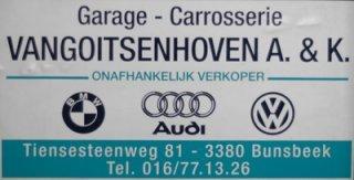 Garage Vangoitsenhoven A&K