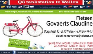 Fietsen-scooters-q8 Tankstation Claudine Govaerts