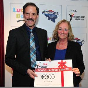 Luc Verheyden (CEO Handelsgids), op de 2de plaats Mode Nicole