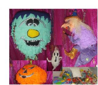 Homemade Pignata's Halloween