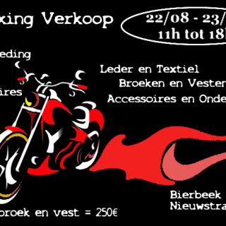 Parkingverkoop motorkleding/gadgets/accessoires