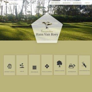 Logo Van Roey Hans bv ontwerp advies natuursteen grondwerk aanplant houtconstructies